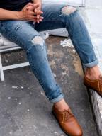 Quần Jeans Rách Xanh Rêu QJ1565