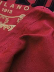 Áo Thun Cổ Tròn Đỏ Đô PRADA AT540