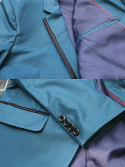 Áo Vest Xanh Cổ Vịt AV2L1074