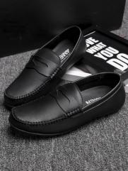Giày Mọi Da Đen G77