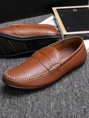 Giày Mọi Da Màu Bò G77