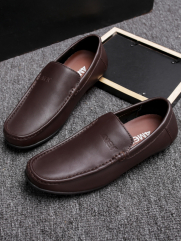Giày Mọi Da Nâu G76