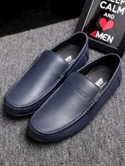Giày Mọi Da Xanh Đen G76