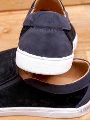Giày Mọi Da Lộn Đen G96