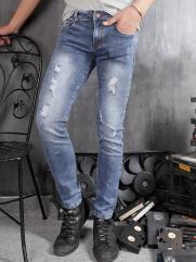 Quần Jean Skinny Rách Xanh Dương QJ1361