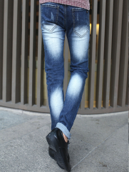 Quần Jean Skinny Rách Xanh Dương QJ1379