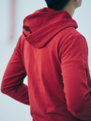 Áo Khoác Nỉ Đỏ Có Nón AK178