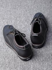 Giày Cột Dây Thời Trang Đen G110
