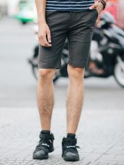 Quần Short Caro Xám Chuột Đậm QS91