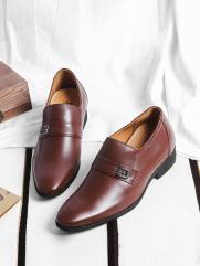 Giày Tăng Chiều Cao Nâu G201