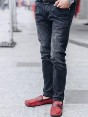 Quần Jeans Ống Đứng Đen QJ1618