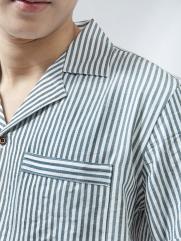 Áo Sơ Mi Linen Sọc Xanh ASM1270