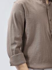 Áo Sơ Mi Linen ASM1267 Màu Nâu