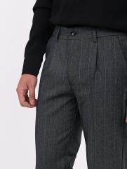 Quần Tây Sọc Slim-cropped Lai Lơ Vê QT153 Màu Xám