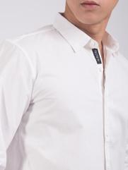 Áo Sơ Mi Gắn Nhãn Trang Trí ASM1310 Màu Trắng