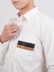 Áo Sơ Mi Túi Ngực In ASM1307 Màu Trắng