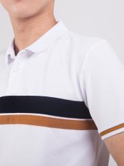 Áo Thun Polo Phối Màu Trắng AT859