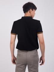 Áo Thun Polo Phối Màu Đen AT859