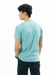 Áo Thun Trơn Căn Bản Form Slimfit AT018 Màu Xanh