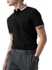 Áo Polo Bo Phối PO003 Màu Đen