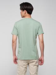 Áo Thun Ngực In Chữ AT024 Màu Xanh