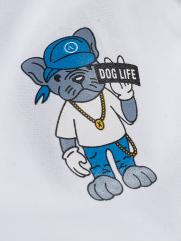 Áo Polo In Denim Dog PO012 Màu Trắng