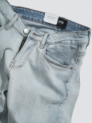 Quần Jeans Xước Form Slimfit QJ012 Màu Bạc