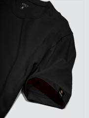 Áo Thun Gắn Nhãn Mặt Cười Màu Đen AT049