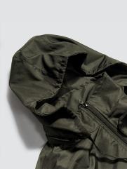 Áo Khoác Dù Trơn Nón Rời Màu Rêu AK019