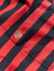 Áo Polo Sọc Ngang Màu Đỏ PO038