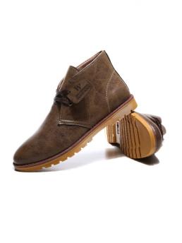 Giày Da Cổ Lửng Nâu G21
