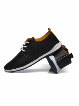 Giày Da Thời Trang Đen G16