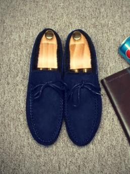 Giày Mọi Lót Lông Xanh Đen G11