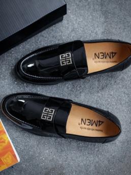 Giày Mọi Da Đen G47