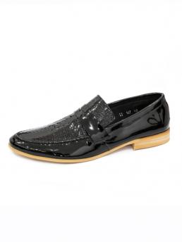 Giày Mọi Da Đen G48