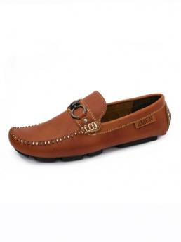 Giày Mọi Da Màu Bò Đậm G57