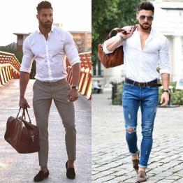 Cách phối đồ cùng áo sơ mi nam trắng