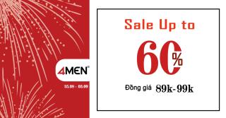 2/9 - Đồng giá 89K-99K, Sale Up to 60% toàn hệ thống