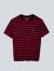 Áo Thun Sọc Túi Thêu Lá Màu Đỏ AT050