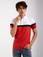 Áo Thun Polo Tay Bo Rã phối Màu Đỏ AT856