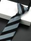 Cà Vạt Sọc CV002 Màu Đen