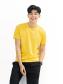 Áo Thun Trơn Căn Bản Form Slimfit AT018 Màu Vàng