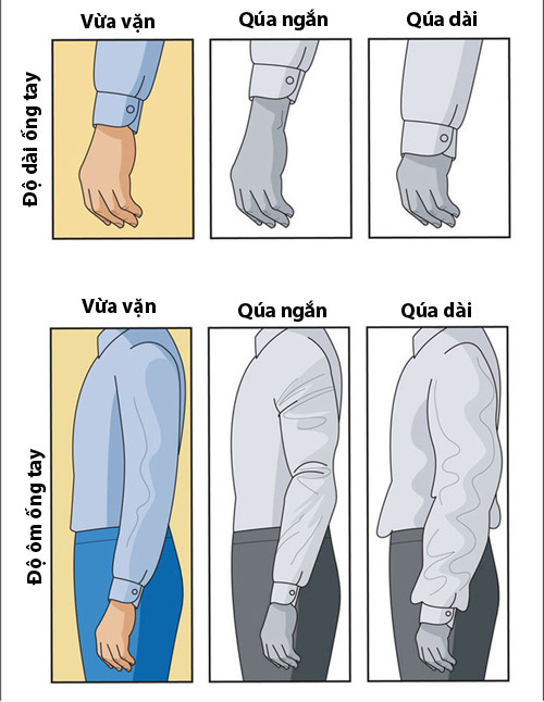 Cách lựa chọn áo sơ mi nam vừa với dáng người - 1