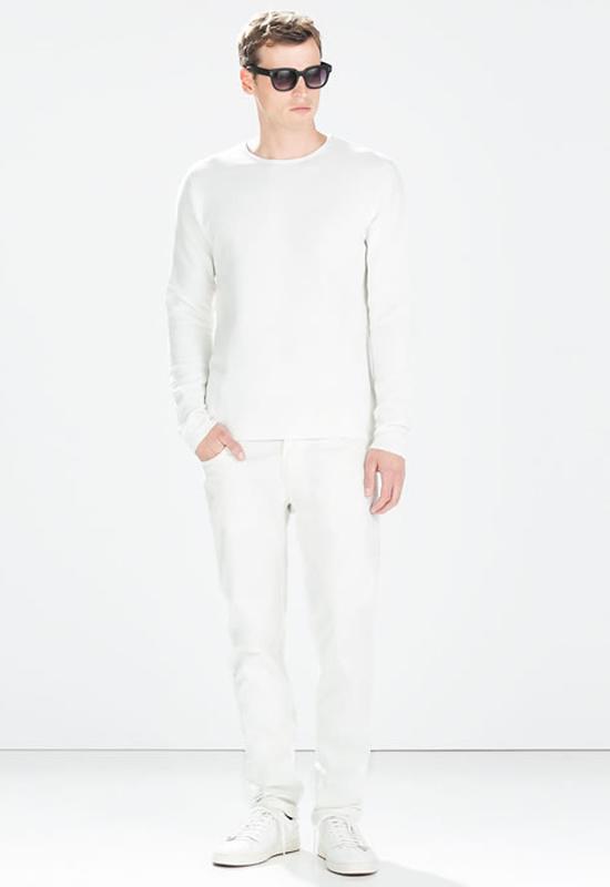 Mẹo diện sét đồ cùng quần jean nam trắng - 2