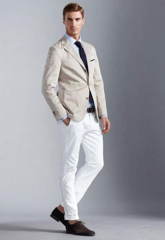 Mẹo diện sét đồ cùng quần jean nam trắng - 3