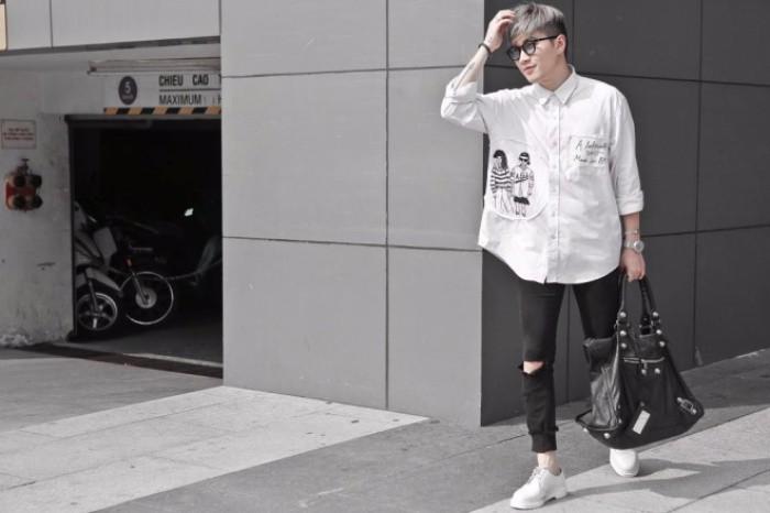 Học cách phối quần jean rách nam của các stylist việt nổi tiếng - 9