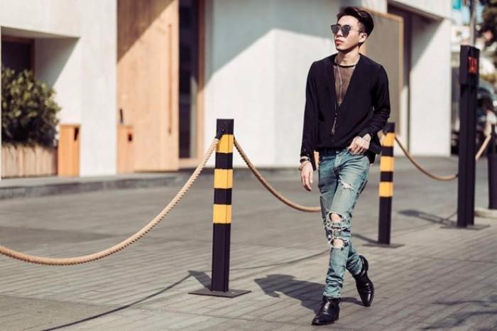 Học cách phối quần jean rách nam của các stylist việt nổi tiếng - 3