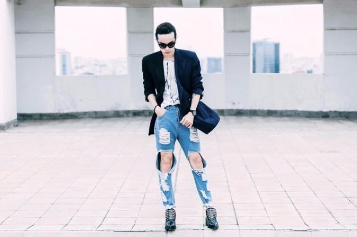 Học cách phối quần jean rách nam của các stylist việt nổi tiếng - 13