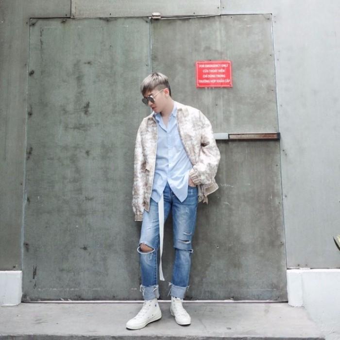 Học cách phối quần jean rách nam của các stylist việt nổi tiếng - 8