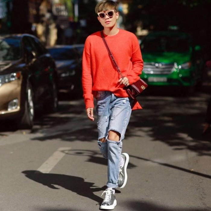 Học cách phối quần jean rách nam của các stylist việt nổi tiếng - 7